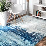 nuLOOM Alayna Abstract Area Rug, 5' x 7' 5', Blue