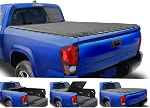 Tyger Auto T3 Soft Tri-Fold Truck Bed Tonneau Cover for 2005-2015 Toyota Tacoma Fleetside..