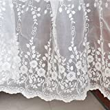 IRIZCO Vine Flowers Embroidery Floral Lace Fabric Off White Wedding...