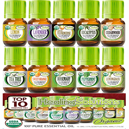 Organic Essential Oils Set