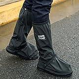 MQFORU Sur-chaussures Guêtres étanches, chaudes, coupe-vent pour cyclistes Protections contre neige, pluie, Noir , 9.5-10.6UK