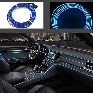 San Jison El Wires Car kit 5m/16ft Cold Interior Trim Bright Car Decorative Atmosphere..