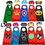 NuGeriAZ Superhero Capes for Kids-Superhero Costumes for Boys Avengers Capes for Kids Dress up 4-10 Year Old Boy Gifts 5PCS