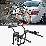 LT Sport Bicycle Rack Holder for 4-Door Sedan Rear Trunk Mount 3-Bike Mounting Carrier
