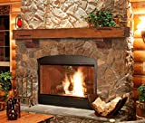 Pearl Mantels 412-60-50 Shenandoah Pine 60-Inch Fireplace Mantel Shelf, Rustic Medium