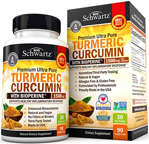 Turmeric Curcumin with BioPerine 1500mg - Natural Joint &...