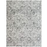ReaLife Machine Washable Rug - Stain Resistant, Non-Shed - Eco-Friendly, Non-Slip, Family & Pet Friendly - Made from Premium Recycled Fibers - Mosaic Tile - Gray, 3' x 5'
