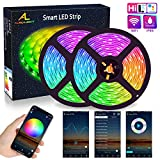 Alexa WiFi LED Strip 10M, ALED LIGHT RGB LED Strips Lights 5050 SMD 300 (2x150), 16 Million Colors, Sync with Music, IP65 Waterproof, Smart Phone APP Controlled LED Band, Work with Alexa, Google Home