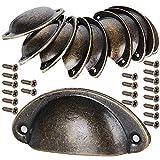 10 pcs Tiradores de Metal Vintage Bronce Manillas Manijas para Puertas de Muebles Antiguos Armarios...