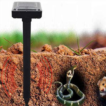 Harddo Solar Power Répulsif à ultrasons à piles étanche pour l'extérieur pour rongeurs avec souris serpent