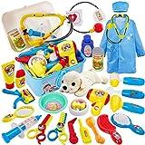 Buyger 2 en 1 Veterinario Juguetes Maletin Perritos Medicos Doctora Juego de Veterinaria Cumpleaños Navidad Regalo Educativo Juguetes para Niños Niñas 3 4 5 Años
