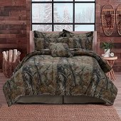 Realtree All Purpose Camo Bedding, Polycotton Fabric 4-Piece Comforter Set for Bedroom, Hunting & Outdoor (Queen), Camoflauge