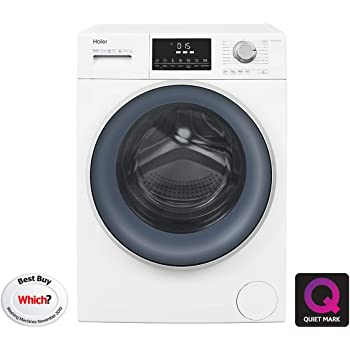 Haier Hw120 B14876 Freestanding Washing Machine Anti Bacterial Direct Motion 1400 Rpm 12kg Load Washing Machine White Amazon Co Uk Large Appliances