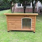 Pets Imperial Norfolk Chenil Isolé en Bois Moyen Taille Chien avec Plancher Amovible pour Un Nettoyage Facile...