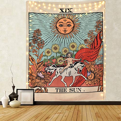 Tarot Tapestry The Sun Tapestry Tarot Card Tapestry Medieval...