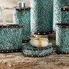 Western Tooled Turquoise Bath Set