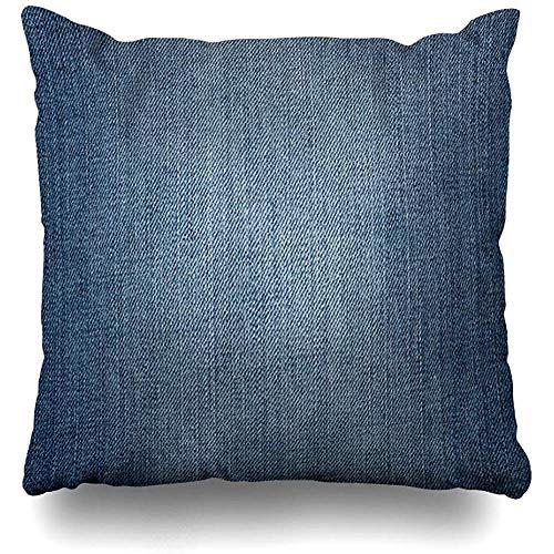 vjgdlz Fodera per Cuscino Modello Jeans Denim Blu Pantaloni Blu Scuro Tela Vintage Istic...