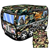 FUN LITTLE TOYS Military Pop Up Play Tent with Army Costume, Children Play Tent for Indoor & Outdoor