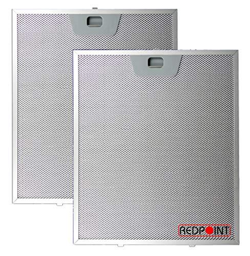 REDPOINT KIT 2 FILTRI ALLUMINIO per CAPPE FABER mm.253 x 300 x 8 con Attacchi inferiori