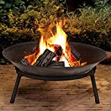 MTS Cast Iron Garden Fire Pit Basket Patio Heater Log Wood Charcoal Burner Brazier
