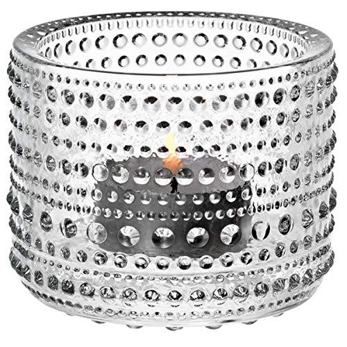 Iittala Kastehelmi Windproof Candle Holder Standard Transparent