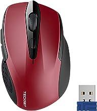TeckNet Pro 2.4G Ergonomic Wireless Optical Mouse with USB Nano Receiver for..