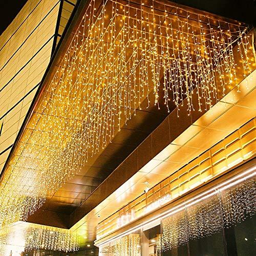 300 LED 6M x 1M PECCIDER Tenda Luminosa Natale IP44 Impermeabile Tenda Luci Natale 8 Modalit, Memoria, Tenda Luminosa Interno/Esterno Bianco Caldo Tenda Di Luci Esterno Natale (Bianco Caldo)