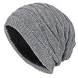 iParaAiluRy Long Slouch Chaud Bonnet avec Doublure Polaire - Hiver Chapeau...