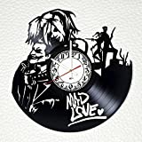 Harley Quinn and Joker Mad Love Design Vinyl Wall Clock – Handmade Gift for Any Occasion – Unique Birthday, Wedding, Anniversary, Wall décor Ideas for Any Space