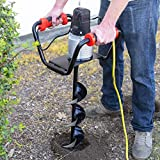 XtremepowerUS 1500W Industrial Electric Post Hole Digger Fence Plant Soil Dig Powerhead include 6' Digging Auger Bit Kit