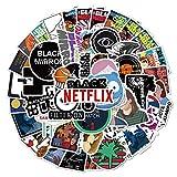 HONGC Pegatinas para programas de televisión, Motocicleta, Snowboard, portátil, Guitarra, Maleta, Graffiti, Pegatina Fresca, 50 Uds.