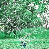 Forno Garden Sprinkler, 360° Rotating Lawn Sprinkler Ground Covered Yard Sprinkler Automatic Spray with for Garden, Kids, Yard