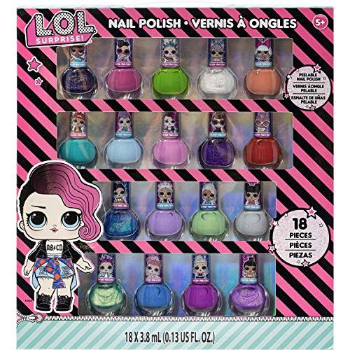 Frozen - Juego de 18 esmaltes de uñas no tóxicos (LOL Surp