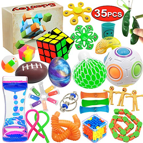 Scientoy Fidget Toy Set, 35 Pcs Sensory Toy for ADD, OCD,...