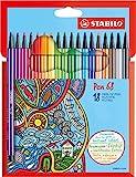 Feutre à dessin - STABILO Pen 68 - Étui carton x 18 feutres pointe moyenne -...