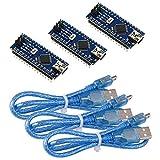 IZOKEE 3pcs ATmega328P CH340G 5V 16MHz Microcontrôleur Module Soudé pour...