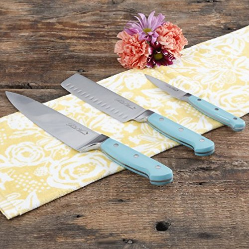 The Pioneer Woman Teal 3-Piece Cutlery Set