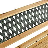 ArtLife 2-Sitzer Gartenbank Pisa aus lackiertem Holz & Gusseisen - 6