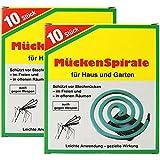com-four 20x Spirales Anti-moustiques avec Support, la Spirale Anti-moustiques Vend des moustiques, et Autres Insectes...