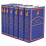 Harry Potter Ravenclaw House Trunk Set   Seven-Volume Hardcover Book Set with Custom Designed Juniper Books Dust Jackets   Author J.K. Rowling