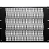 NavePoint 8U Blanking Panel, Perforated, Flanged, 19 inch Wide Network Server Rack or Server Cabinet, Filler Panel, Steel, Hardware Included