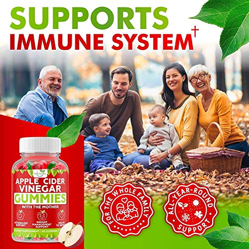 (2-Pack) Apple Cider Vinegar Gummies with The Mother for Metabolism Support & Detox - Acv Gummies for Appetite, Gummy Alternative to Capsules, Non-GMO, Amazing Taste, 120 Vegan Gummies 3 - My Weight Loss Today