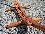 Petra Leisure 14 Ft. Wooden Arc Hammock Stand. 450 LB Capacity. Teak Stain Finish
