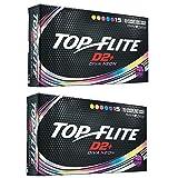 2pk Top Flite Womens D2+ Diva Neon Golf Balls - 30 Balls
