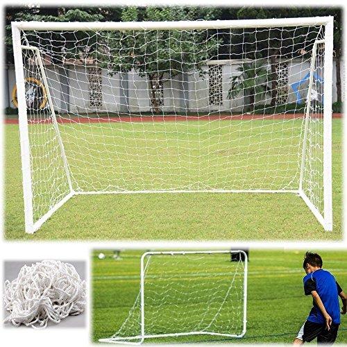 Fußball Tornetz langlebig Fußball Netz Ersatz Fußballtornetz für Torpfostenrahmen in Originalgröße Größe 6x4/8x6/12x6/24x8FT (6X4FT)