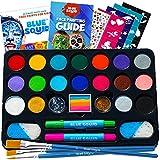 Face Paint Kit for Kids – Blue Squid 22 Colors, 160pcs, Ultimate...