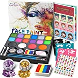 Jojoin Kids Face Makeup Colors, paleta de pintura corporal de 16 colores con 4 colores base grandes, ...