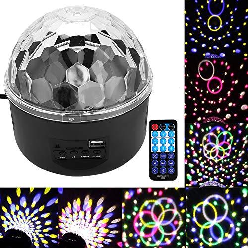 GOTOTOP Bühnenlicht, Schwarz LED Effektstrahler, 3 Modi Effektlicht, Automatisch, Sound aktiviert, Fernbedienung für Show, Bar, Disco, Weihnachten, Halloween, KTV und Hochzeit