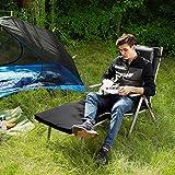 SONGMICS Sonnenliege klappbar Liegestuhl mit 6 cm Dicker Matratze abnehmbares Kopfkissen aus rostfreiem Aluminium - 5