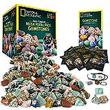 NATIONAL GEOGRAPHIC Rock Tumbler Mega Refill Kit - 3lbs Gemstones of 9 Varieties Including Tiger's...